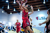 Canterbury's Lauryn Hippolite in action during the 2018 Women's Basketball League match between Canterbury Wildcats and Taranaki Thunder at Cowles Stadium in Christchurch, New Zealand on Sunday, 24 June 2018. Photo: Dave Lintott / lintottphoto.co.nz