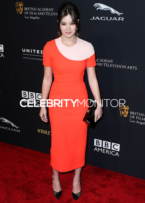 BEVERLY HILLS, CA, USA - OCTOBER 30: Hailee Steinfeld arrives at the 2014 BAFTA Los Angeles Jaguar Britannia Awards Presented By BBC America And United Airlines held at The Beverly Hilton Hotel on October 30, 2014 in Beverly Hills, California, United States. (Photo by Xavier Collin/Celebrity Monitor)