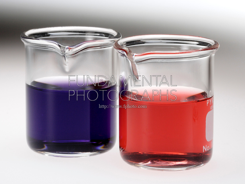COBALT CHLORIDE: CHEMICAL EQUILIBRIUM<br /> Solutions of Blue CoCl4 & Pink Co(H2O)6<br /> If chloride concentration is low, the equilibrium lies to the right and the solution is pink. With excess chloride, the equilibrium tends to the left- the solution tends to be blue. 1:1 0.5M CoCl2 & 12.5M HCl to cause color shift.