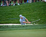 Bethesda, MD - June 27, 2014: Jordan Spieth plays his second shot from the bunker on hole 2 in the second round of the Quicken Loans National at the Congressional Country Club in Bethesda, MD, June 27, 2014.  (Photo by Don Baxter/Media Images International)