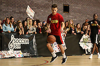 Dunk'n'Funk celebrity basketball event organised by Soccer Six and featuring a whole host of fan-favourite stars from the worlds of music, sport, TV and film at the Brentwood Centre, Brentwood, Essex.<br /> Picture by David Horn/EAP +44 7545 970036<br /> 08/02/2015