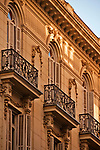 Balconies in the Serano neighborhood of Madrid, Spain