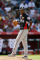 Julio Teheran of the Atlanta Braves organization participates in the Futures Game at Angel Stadium in Anaheim,California on July 11, 2010. Photo by Larry Goren/Four Seam Images