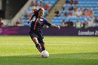 25.07.2012 Coventry, England. Homare SAWA (Japan)  in action during the Olympic Football Women's Preliminary game between Japan and Canada from the City of Coventry Stadium