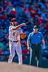 30 July 2017: Washington Nationals third baseman Anthony Rendon gets the first out in the 8th inning against the Colorado Rockies at Nationals Park in Washington, DC. The Rockies defeated the Nationals 10-6 in the second game of their 3-game weekend series. Mandatory Credit: Ed Wolfstein Photo *** RAW (NEF) Image File Available ***