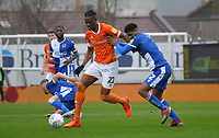 Blackpool's Armand Gnanduillet battles with Bristol Rovers' Mark Little<br /> <br /> Photographer Ian Cook/CameraSport<br /> <br /> The EFL Sky Bet League One - Bristol Rovers v Blackpool - Saturday 15th February 2020 - Memorial Stadium - Bristol<br /> <br /> World Copyright © 2020 CameraSport. All rights reserved. 43 Linden Ave. Countesthorpe. Leicester. England. LE8 5PG - Tel: +44 (0) 116 277 4147 - admin@camerasport.com - www.camerasport.com