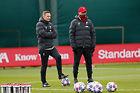 10th March 2020; Anfield, Liverpool, Merseyside, England; UEFA Champions League, Liverpool versus Atletico Madrid, Liverpool training;  Liverpool manager Jurgen Klopp and assistant coach Pepijn Lijnders during today's open training session at Melwood ahead of tomorrow's Champions League match against Atletico Madrid
