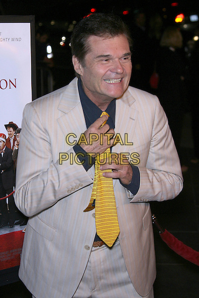 """FRED WILLARD.""""For Your Consideration"""" Los Angeles Premiere - Arrivals held at the Director's Guild, Hollywood, California , USA,13 November 2006..half length hand yellow tie funny.Ref: ADM/ZL.www.capitalpictures.com.sales@capitalpictures.com.©Zach Lipp/AdMedia/Capital Pictures."""