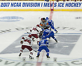 [ - The Harvard University Crimson defeated the Air Force Academy Falcons 3-2 in the NCAA East Regional final on Saturday, March 25, 2017, at the Dunkin' Donuts Center in Providence, Rhode Island.