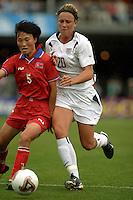 2003WWC USA/Korea DPR.Abby Wambach v Kum Ok Sin(Korea DPR)