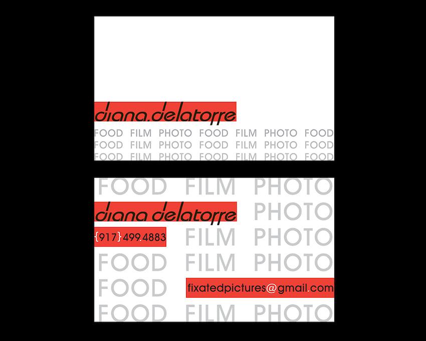 Business Card Design for Diana Delatorre