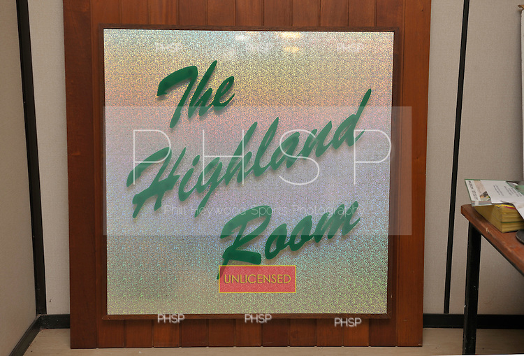 Original Highland Room sign