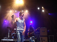 Jonathan Roy, son of ex-NHL goalkeeper Patrick Roy, performs as a singer at the Canada Day show in Quebec city, July 1, 2009.