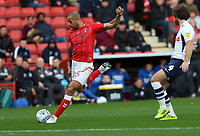 Darren Pratley of Charlton Athletic shot goes wide during Charlton Athletic vs Preston North End, Sky Bet EFL Championship Football at The Valley on 3rd November 2019