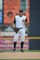 Trenton Thunder  pitcher Manny Banuelos (23) during game against the Altoona Curve at ARM & HAMMER Park on August 6, 2014 in Trenton, NJ.  Trenton defeated Altoona 7-3.  (Tomasso DeRosa/Four Seam Images)