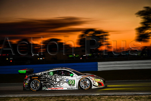 March 18th, 2017; Sebring, Florida, USA; 12 Hours of Sebring Weathertech Sportscar championship;  #93 MICHAEL SHANK RACING (USA) ACURA NSX GT3 GTD ANDY LALLY (USA) KATHERINE LEGGE (GBR) MATK WILKINS (CAN)
