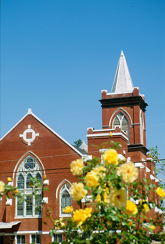 Baptist church of red clay bricks, Vienna, Georgia