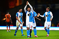 Blackburn Rovers' Bradley Dack celebrates at the end of the match<br /> <br /> Photographer Richard Martin-Roberts/CameraSport<br /> <br /> The Carabao Cup First Round - Tuesday 13th August 2019 - Blackburn Rovers v Oldham Athletic - Ewood Park - Blackburn<br />  <br /> World Copyright © 2019 CameraSport. All rights reserved. 43 Linden Ave. Countesthorpe. Leicester. England. LE8 5PG - Tel: +44 (0) 116 277 4147 - admin@camerasport.com - www.camerasport.com