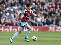 Burnley's Jack Cork<br /> <br /> Photographer Rich Linley/CameraSport<br /> <br /> The Premier League - Burnley v Leicester City - Saturday 14th April 2018 - Turf Moor - Burnley<br /> <br /> World Copyright &copy; 2018 CameraSport. All rights reserved. 43 Linden Ave. Countesthorpe. Leicester. England. LE8 5PG - Tel: +44 (0) 116 277 4147 - admin@camerasport.com - www.camerasport.com
