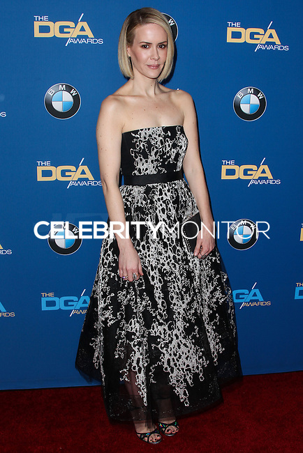 CENTURY CITY, CA - JANUARY 25: Sarah Paulson at the 66th Annual Directors Guild Of America Awards held at the Hyatt Regency Century Plaza on January 25, 2014 in Century City, California. (Photo by Xavier Collin/Celebrity Monitor)