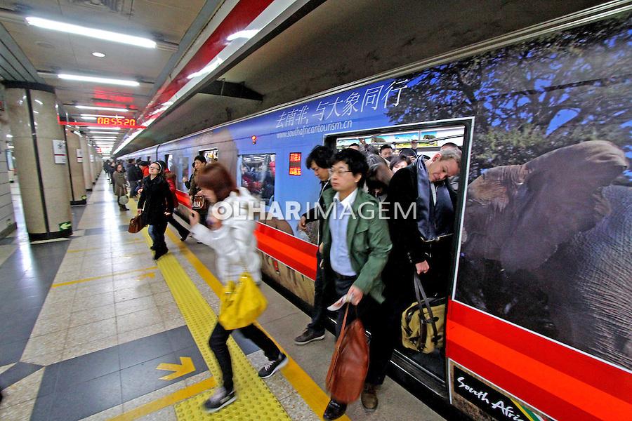 Estação do metrô em Pequim. China. 2011. Foto de Flávio Bacellar.