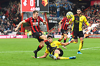 Adam Masina of Watford makes a tackle on Ryan Fraser of Bournemouthj during AFC Bournemouth vs Watford, Premier League Football at the Vitality Stadium on 12th January 2020