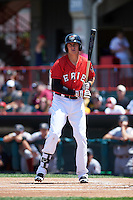 Erie Seawolves first baseman Dominic Ficociello (25) at bat during a game against the Altoona Curve on July 10, 2016 at Jerry Uht Park in Erie, Pennsylvania.  Altoona defeated Erie 7-3.  (Mike Janes/Four Seam Images)