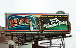Curtis Mayfield billboard on the Sunset Strip circa