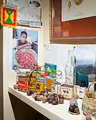 Johnathan Nyberg maintains a shrine to Nutmeg and Mace in his Durham home. Nyberg is fascinated by the exotic spice, which is native only to Banda Island in Indonesia. ..Photo by D.L. Anderson