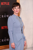 LONDON, UK. November 1, 2016: Victoria Hamilton at the World Premiere of the Netflix series &quot;The Crown&quot; at the Odeon Leicester Square, London.<br /> Picture: Steve Vas/Featureflash/SilverHub 0208 004 5359/ 07711 972644 Editors@silverhubmedia.com