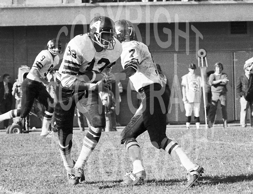 Bill Symons Toronto Argonauts 1971.Photo Ted Grant