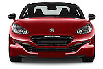 Car photography straight front view of a 2014 Peugeot RCZ R 2 Door Coupe 2WD Front View