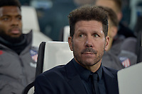 26th November 2019; Allianz Stadium, Turin, Italy; UEFA Champions League Football, Juventus versus Atletico Madrid; Diego Simeone, the coach of Atletico Madrid  - Editorial Use