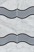 Name: Danube<br /> Style: Contemporary<br /> Product Number: CB0812<br /> Description: Danube in Carrara, Nero Marquina, Bardiglio (h)