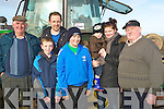 HELPING HAND: Giving Tommy McCarthy an helping hand at the Ballyheigue Ploughing Competition on Sunday on Diarmuid Lawlor's land, Ballymacquinn, L-r: Sean O'halloran and Colin O'Halloran (Ballyheigue), Tommy McCarthy (Abbeydorney), Shane,Emma and Tadhg O'Halloran (Ballyheigue) and Jimmy Lawlor (Abbeydorney). ...