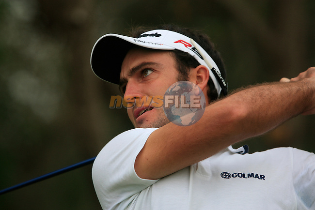 Edoardo Molinari tees off on the 10th tee to start his round during Thusday Day 1 of the Abu Dhabi HSBC Golf Championship, 20th January 2011..(Picture Eoin Clarke/www.golffile.ie)