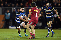 Michael van Vuuren of Bath United in possession. Aviva A-League match, between Bath United and Harlequins A on March 26, 2018 at the Recreation Ground in Bath, England. Photo by: Patrick Khachfe / Onside Images
