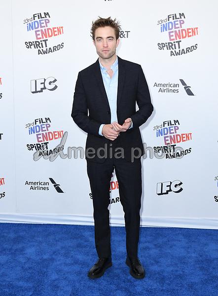 03 March 2018 - Santa Monica, California - Robert Pattison. 2018 Film Independent Spirit Awards -Arrivals, held at the Santa Monica Pier. Photo Credit: Birdie Thompson/AdMedia