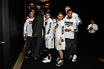 MILWAUKEE, WI - MARCH 16:  Purdue Boilermakers players prepare to enter the court during the 2017 NCAA Men's Basketball Tournament held at BMO Harris Bradley Center on March 16, 2017 in Milwaukee, Wisconsin. (Photo by Jamie Schwaberow/NCAA Photos via Getty Images)