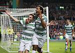James Forrest celebrates his goal with Virgil van Dijk