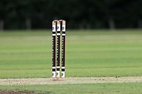 Stumps during Brentwood CC vs Ilford CC, Shepherd Neame Essex League Cricket at The Old County Ground on 8th June 2019