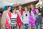 MEETING THE ROSES: Katie Liston, Tara Horgan and Roza Kelly meeting the Roses at the Rose of Tralee Festival and Jigsaw fundraiser at the Kingdom Greyhound Stadium on Saturday l-r: Laois Rose Bernadette Ryan, Katie Liston, Fenit, Leitrim Rose Martha Gilheaney, Tara Horgan, Tralee, Tipperary Rose Linda Kelly and Roza Karim, Tralee.
