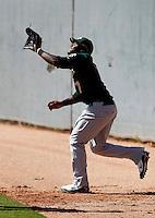 Rashun Dixon - Oakland Athletics - 2009 spring training.Photo by:  Bill Mitchell/Four Seam Images