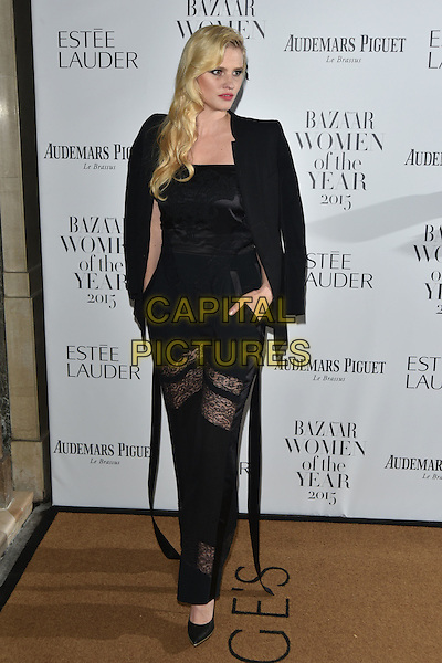 Lara Stone<br /> Harper's Bazaar Women of the Year 2015 awards,  Claridges Hotel n London, November 03, 2015.<br /> CAP/PL<br /> &copy;Phil Loftus/Capital Pictures