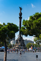 Columbus Monument in Barcelona port