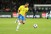 27th March 2018, Olympiastadion, Berlin, Germany; International Football Friendly, Germany versus Brazil; Gabriel Jésus (Brazil) in action