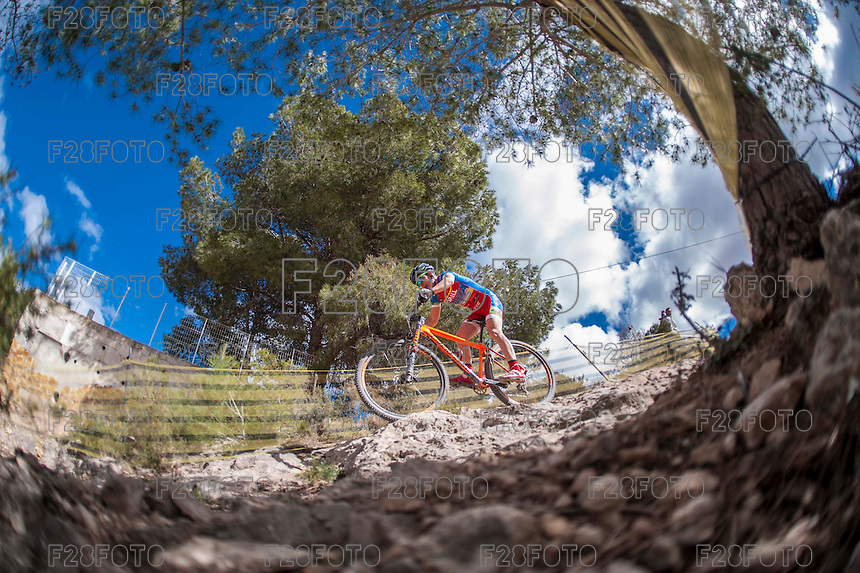 Chelva, SPAIN - MARCH 6: Victor Gomez during Spanish Open BTT XCO on March 6, 2016 in Chelva, Spain