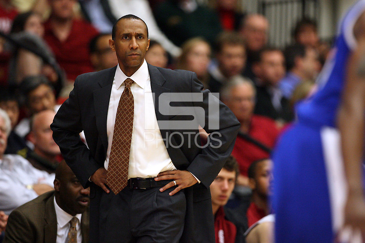 Stanford, CA - NOVEMBER 26:  Head coach Johnny Dawkins of the Stanford Cardinal during Stanford's 76-57 win against the Air Force Academy Falcons on November 26, 2008 at Maples Pavilion in Stanford, California.