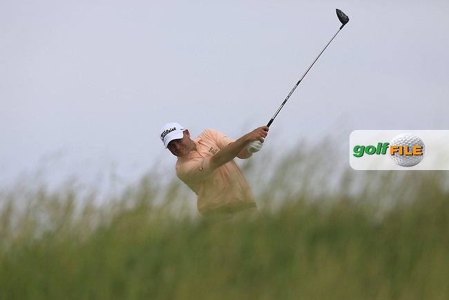 Bill Haas (USA) on the 18th tee during Wednesday's Practice Day of the 117th U.S. Open Championship 2017 held at Erin Hills, Erin, Wisconsin, USA. 14th June 2017.<br /> Picture: Eoin Clarke | Golffile<br /> <br /> <br /> All photos usage must carry mandatory copyright credit (&copy; Golffile | Eoin Clarke)