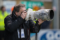 Photographer Andy Kearns during the Sky Bet League 1 match between Gillingham and Fleetwood Town at the MEMS Priestfield Stadium, Gillingham, England on 27 January 2018. Photo by David Horn.